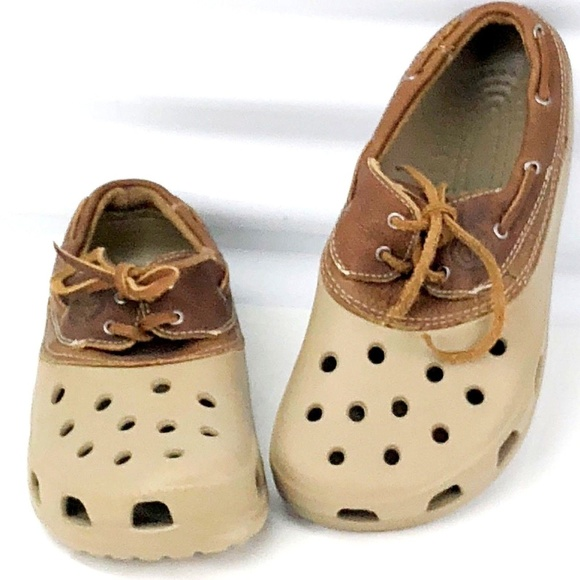 8022784f3f82 crocs Shoes - CROCS Tan Islander Pitcrew Sport Boat Shoes